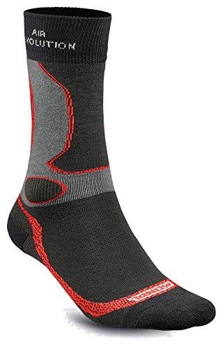 Meindl Unisex Socken, noir-rot, 36-39 (S)