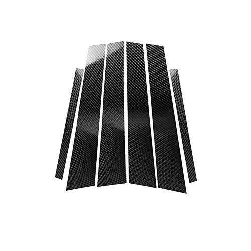 Lfldmj Pegatinas de Ajuste de la Cubierta de Fibra de Carbono de modificación de la Columna B Interior de Fibra de Carbono, para BMW 5 Series F10 2011-2017