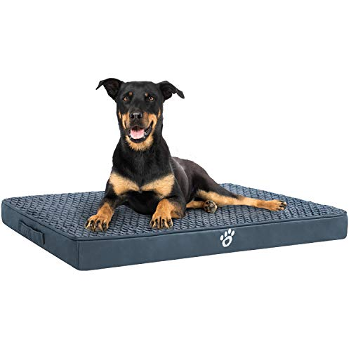 OQQ Dog Beds Ideal for Metal Dog Crates   Durable PU Leather and Non-Slip Bottom Pet Bed Bed Mats