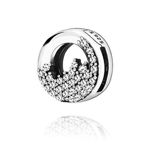 LILANG Pandora 925 Pulsera de joyería Natural Winter Bead Reflexion Sparkling Icicles Clips Charms Women DIY Gift