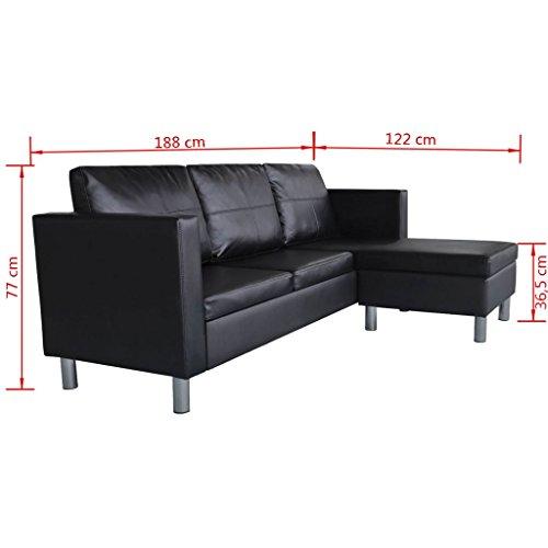 Ecksofa Couch –  günstig Festnight 3-Sitzer L-Form kaufen  Bild 1*