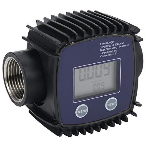FOLOSAFENAR Medidor de Flujo de turbina de líquido de tubería de medición, medidor de Flujo de turbina Digital, fácil de Transportar para Estaciones de Servicio y Otras instituciones