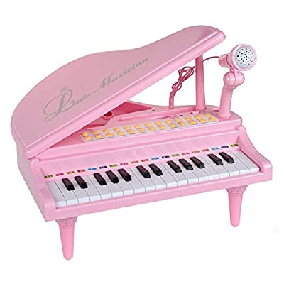 Piano Toy Keyboard for Kids Birthday Gift Pink ...