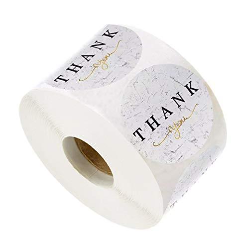 jojofuny 500 st/rulle tack klistermärken runda etiketter klistermärken för gåva förpackning kort kuvert varor online återförsäljare väskor lådor