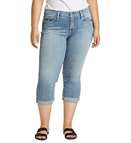 Silver Jeans Co. Women's Plus Size Suki Capri Jeans, Vintage Medium Indigo, 16W -  W43916SJL276