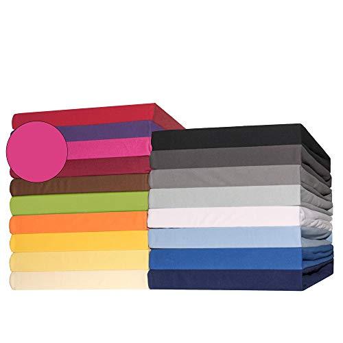 CelinaTex Lucina Topper Spannbettlaken 140x200-160x200 cm pink Baumwolle Spannbetttuch