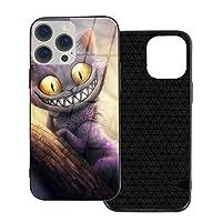 Iphone 12 シリーズ 携帯カバー スマホケース Cheshire Cat チェシャ猫 強化ガラスケース ハードケース 電話の殻 Ip12-6.1