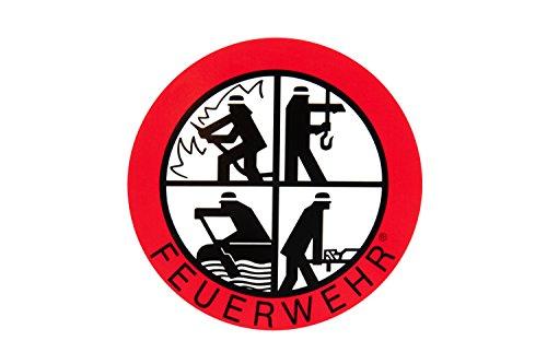 Feuerwehr Aufkleber - DFV - Signet-Klebeplakette 90 mm innen
