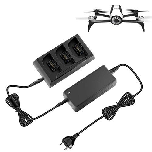 MRKE 3 In 1 Hub Cargador Rápido para Parrot Bebop 2 Drone FPV Bateria con Luz Indicadora
