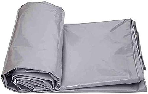 MHKJ Pare-Soleil en Toile imperméable pour extérieur en crêpe Pliable en Toile PVC Pare-Soleil Ponchoi (Couleur   gris), Plastique, 3x3m