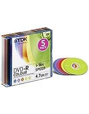 TDK T19825 DVD grabable - DVD-R caja 5 unidades