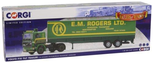 Corgi - CCC15504 - Radio Commande, Véhicule Miniature - Volvo F10 - Tilt Trailer - E M Rogers - English