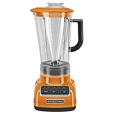 KitchenAid KSB1575TG 5-Speed Diamond Blender with 60-Ounce BPA-Free Pitcher - Tangerine
