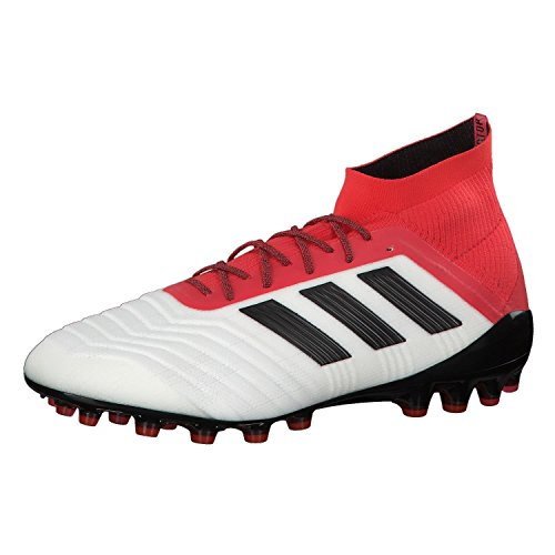 Adidas Predator 18.1 AG, Botas de fútbol Hombre, Blanco (Ftwbla/Negbas/Correa 000), 48 EU