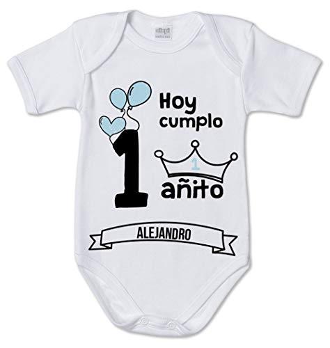 AR Regalos Body bebé Primer cumpleaños (Niño) (12 a 18 Meses)