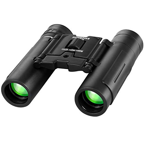 Binoculares 10x25 para niños adultos pequeños, compactos ligeros plegables mini binoculares para observación de aves viajes estrellas caza camping conciertos deportes teatro ópera