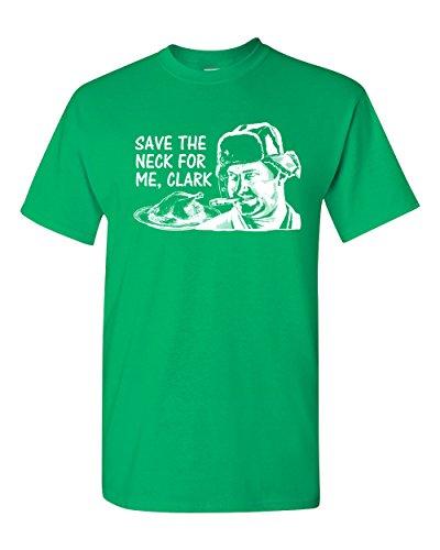 Save The Neck for Me, Clark Men's T-Shirt - Large Irish Green (ATA753)