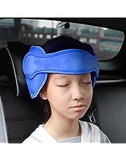 FREESOO Zagłówek fotelik dziecięcy do samochodu, zagłówek do fotelika samochodowego, zagłówek do fotelików dziecięcych, regulowany pasek na głowę, ochrona głowy, uchwyt na głowę, fotelik dziecięcy, kolor niebieski