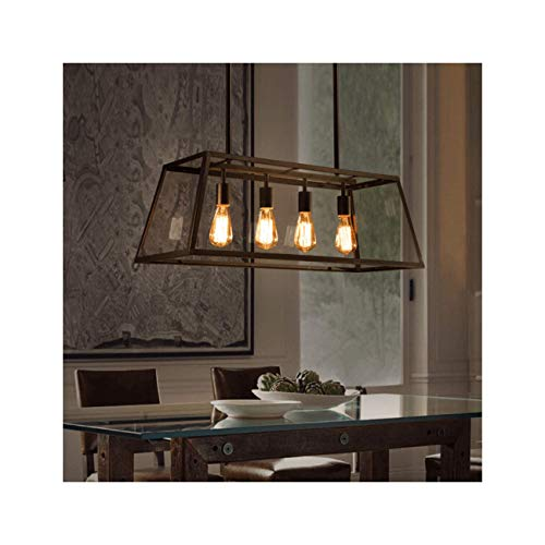 KOSILUM - Grande suspension serre à semis 4 lumières - Fresy - Lumière Blanc Chaud Eclairage Salon Chambre Cuisine Couloir - 4 x 40W - - E27 - IP20