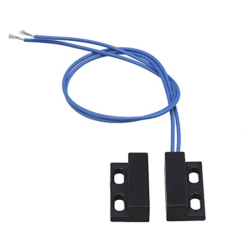AC110-220V NC nero Interruttore porta finestra magnetica Reed Interruttore contatti porta magnetica normalmente chiuso