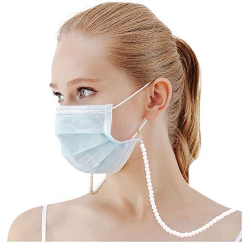 Grizy Lanyard Schlüsselband für Gesichtsbedeckung, Maskenkette Mit Clip, Maskenhalterung, Maskenband für Mundschutz, Serviettenhalter Lanyard für Arzt, Erwachsene, Kinder (Weiss)