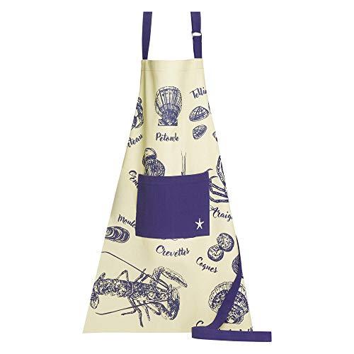 Winkler - Tablier de cuisine - Tablier de cuisine réglable - Tablier pour la cuisine - Tablier barbecue - Tablier 100% Coton - 72 x 85 - Ficelle - Pêche à pied