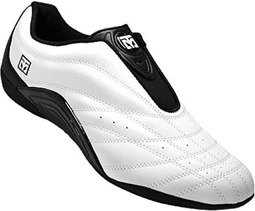 Mooto Wings Korea Taekwondo Shoes TKD Competition Twotone&Black 4 1/2 to 14 (Black & White, 285mm(US 10))