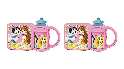 3722; 2 setscombo Disney Princesas, compuesto por sandwichera que incorpora 2 botellas de agua; reutilizable; no BPA