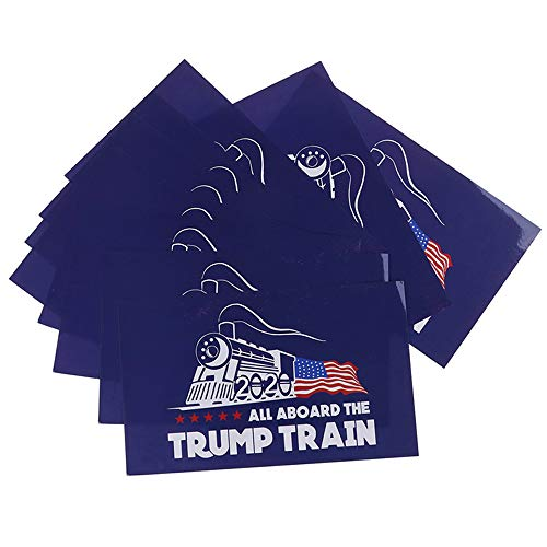10Pcs Trump 2020 Sticker, Trump Bumper Stickers for Presidential Election - Waterproof Vinyl Stickers for Car, Bumper, Motorboat, Laptop - 4.3 x 7 Inch