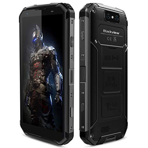 Blackview BV9500 Plus Unlocked Cell Phones, 10000mAh Battery Helio P70 Wireless Charging 5.7 inch Rugged Smartphone Android 9.0 Dual SIM Dual 4G Standby 4GB+64GB 16MP+13MP Fingerprint Rugged Phone