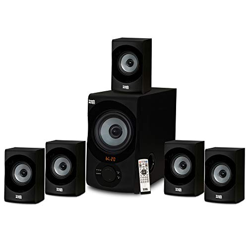 Acoustic Audio AA5172 Home Theater 51 Bluetooth Speaker System with USB / SD Gray