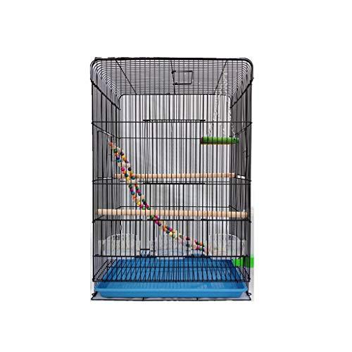 Pájaros pájaros jaulas Ampliación de la Jaula de pájaro de Budgie Finch Lovebir portátiles de tamaño Grande Pájaros Viajes Jaula Pet Home 60cm con la Escala Juguetes Colgantes Jaula de pájaros pequeñ