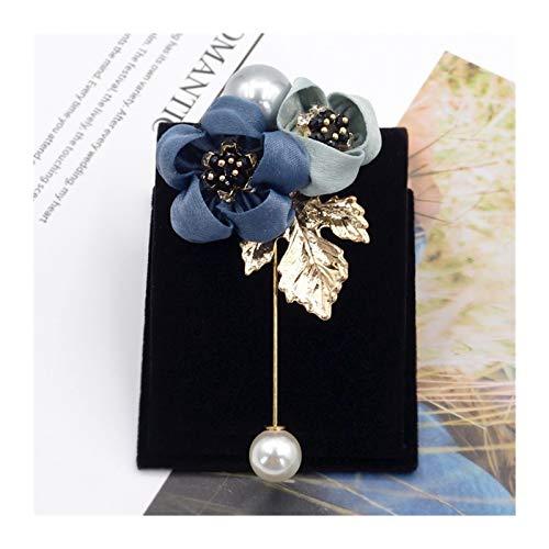 HMYDZ Damen-Tuch-Kunst-Perlen-Gewebe-Blumen-Brosche Cardigan Hemd Schal Pin Beruf Coat Abzeichen Schmuck Accessoires (Color : 4)