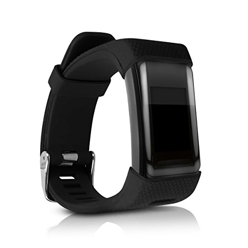 kwmobile Pulsera Compatible con Garmin Vivosmart HR Plus/Approach X40 - Brazalete de Silicona en Negro sin Fitness Tracker