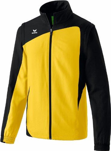 Erima Herren Jacke Club 1900 mit Abnehmbaren Ärmeln, gelb/schwarz, XL, 105339