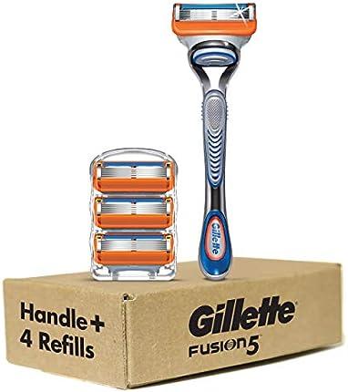 Gillette Fusion5 - Mango de afeitar para hombre + 4 recambios de cuchillas