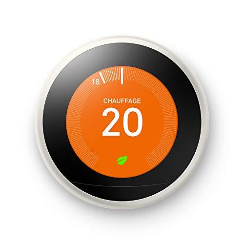 Google Nest Learning Thermostat, 3eme Génération, Thermostat Connecté, Blanc
