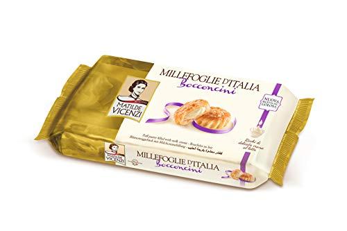 Matilde Vicenzi MilleFoglie Bocconcini Milchcreme - Italienisches Blätterteig Gebäck mit Cremefüllung, 16er Pack (16 x 125 g)