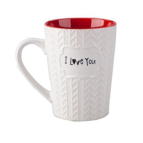 Ynsfree I Love You Mug 16 oz Coffee Tea Cup Gifts for Dad/Father/Mom/Grandma/Ladies/Wife,Birthday/Christmas/Anniversary/Valentine,Mother