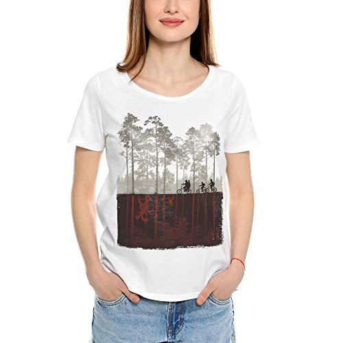 Mush dressyourstyle Camiseta de mujer Stranger Things con pe