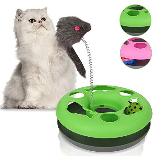 Karpal Katzenspielzeug mit Maus, Kugelbahn, Ball mit Glöckchen, Cat Toy, Training & Beschäftigung