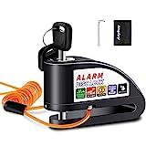 Anykuu Candado Disco Moto con 1.5m Cable y Bolsa Cerradura Dispositivo...