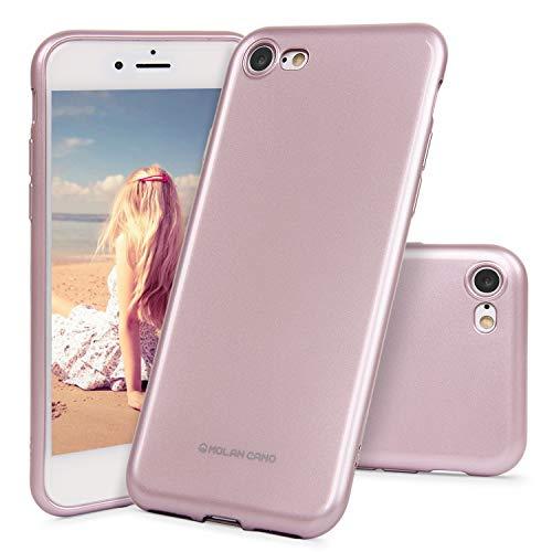 Imikoko iPhone 7/iPhone 8/iPhone SE(2020) Hülle Matt Silikon Handyhülle Schutzhülle Case Schutz vor Stoßfest/Scratch Kratzfest Cover mit Soft Microfaser Tuch Futter Kissen für iPhone 7/8/SE(2020)