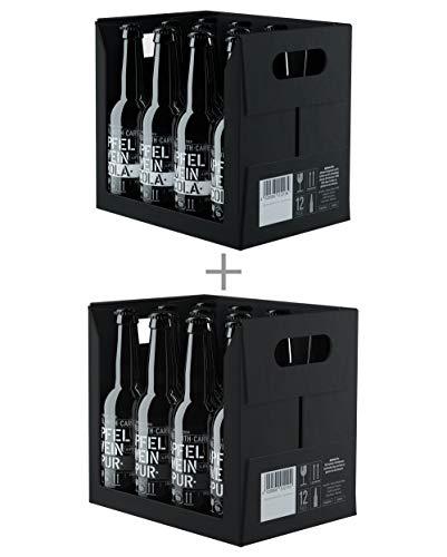 BEMBEL WITH CARE Apfelwein-Cola (12 x 330 ml) + Apfelwein-Pur (12 x 330 ml) Einweg Longneck-Flaschen aus Schwarzglas