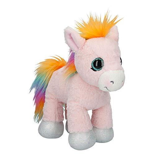 Depesche 10221 pluche Pony Roosy Rainbow, Ylvi en de Minimoomis, ca. 24 cm, kleurrijk