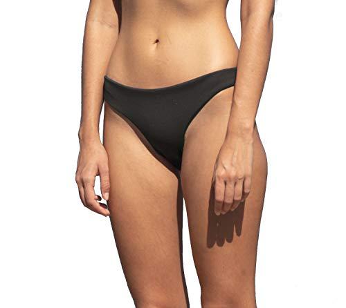 Haight Basic Bikini Bottom in Black Crepe (M)