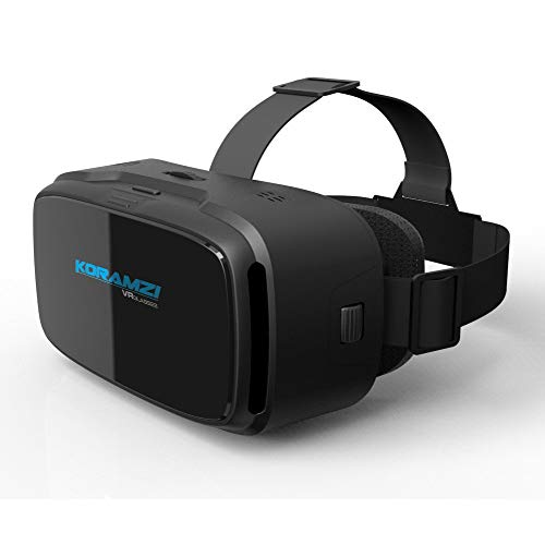 Koramzi VR 3D Glasses Virtual Reality Headset/VR Goggles for Any 4-6 inch Smartphones iPhone 6s 6 Plus Samsung Galaxy Series (Black)