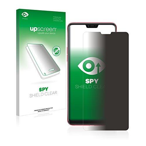 upscreen Anti-Spy Blickschutzfolie kompatibel mit Oppo F7 Privacy Screen Sichtschutz Bildschirmschutz-Folie