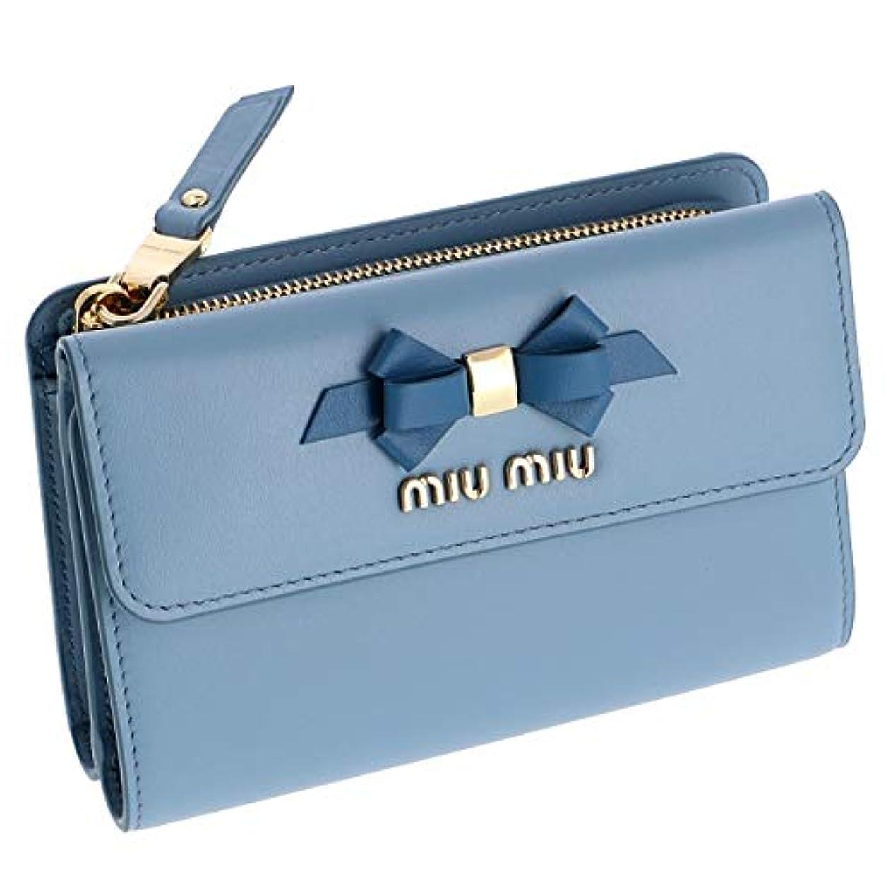 地上のホームレス悪夢MIUMIU(ミュウミュウ) 財布 三つ折り財布 りぼんモチーフ 折りたたみ財布 ミニ財布 三つ折り財布 5ML014 2B61 RFK [並行輸入品]