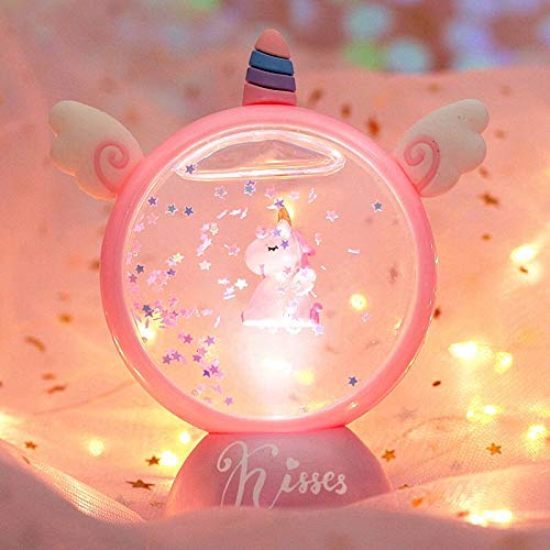 Z-YQL - Luz nocturna de unicornio, regalo para niñas, proyector de luz de unicornio, lámpara de proyección de estrellas y luna, luz nocturna de constelación para niños de 1 a 10 años